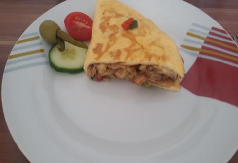Mantarli Omlet