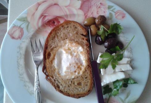 Tost Ekmeği Gözünde Yumurta