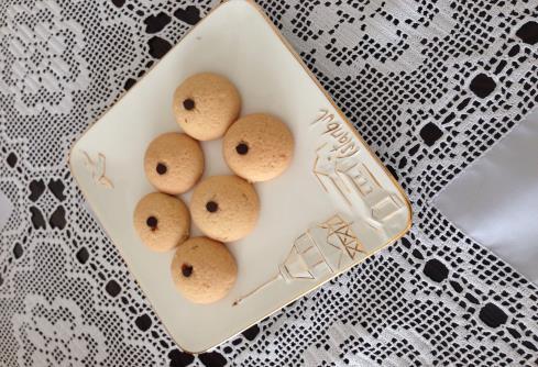 Portakalı damla çikolatalı kurabiye
